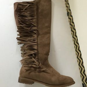 69ae6e1f5c4 Lane Bryant Shoes - Lane Bryant boots wide calf stretch fringe